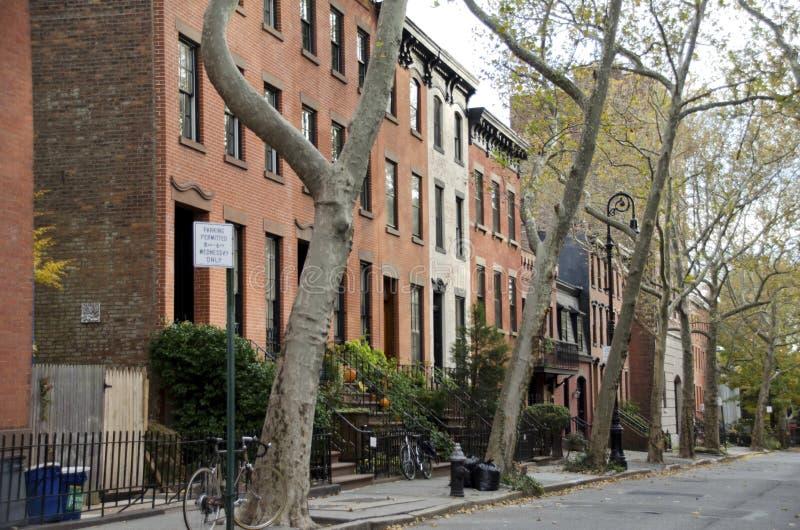 Brownstones de Brooklyn imagens de stock royalty free