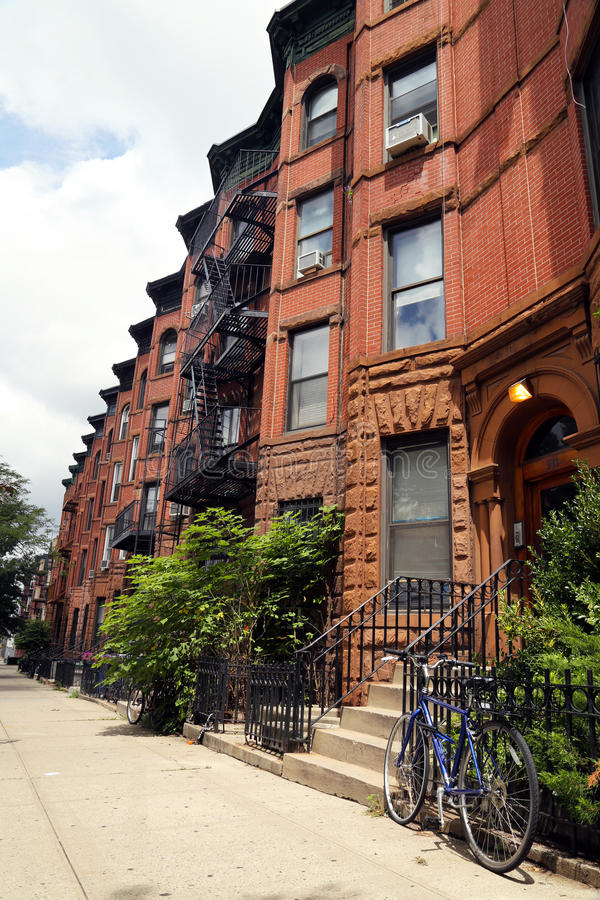 Brownstones di New York immagini stock