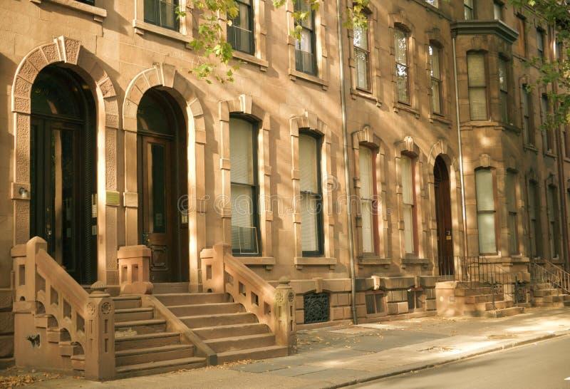 brownstones Filadelfii obraz stock