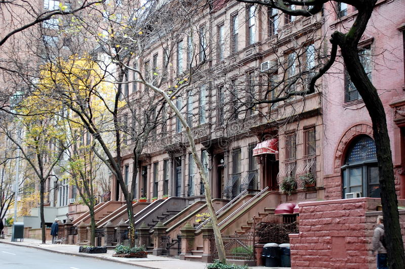Brownstones on the Upper West Side stock photography