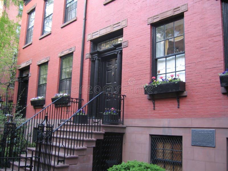 Brownstones van Brooklyn royalty-vrije stock foto's