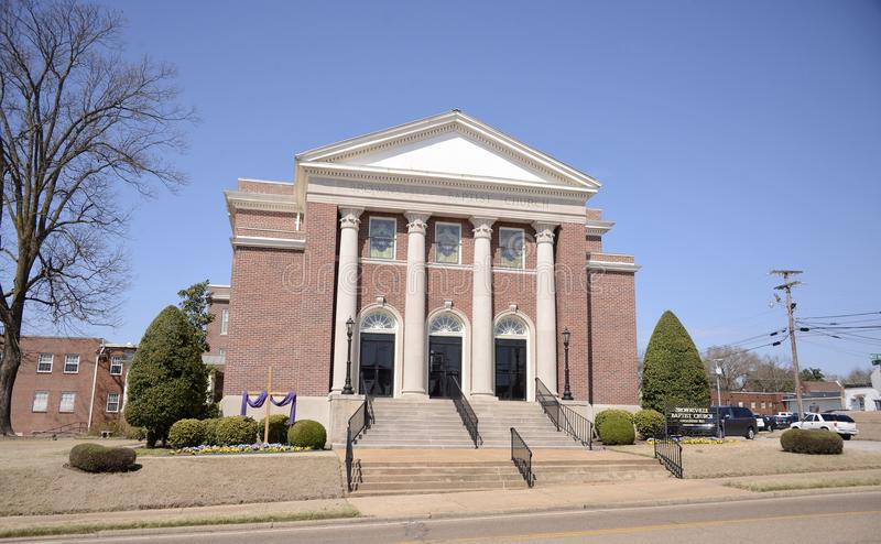 Brownsville Baptist Church Building, Brownsville, Tennessee stock fotografie