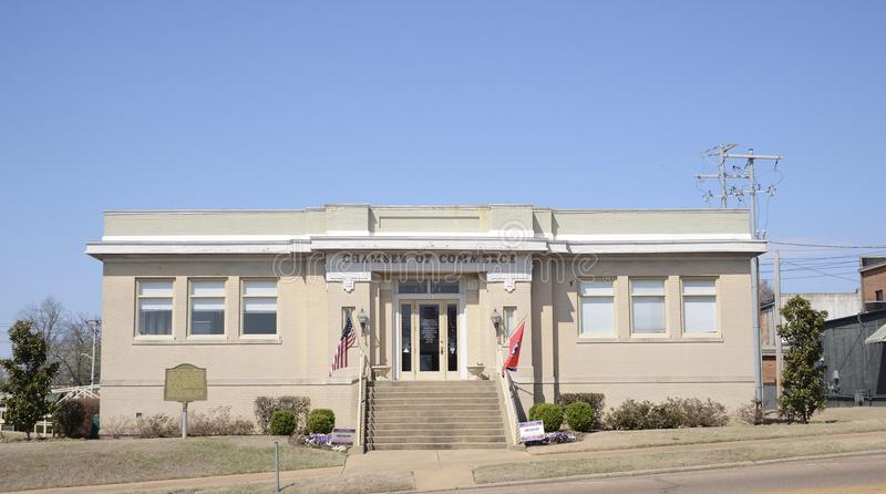 Brownsville, Tennessee Chamber van Handel stock afbeeldingen
