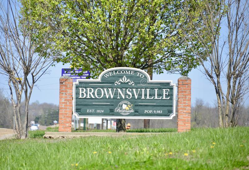Brownsville, Tennessee de Haywood County foto de stock royalty free