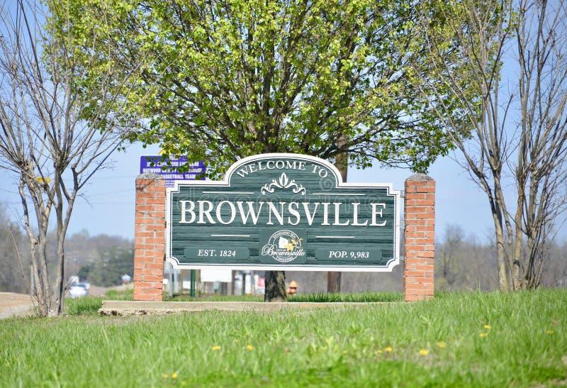 Brownsville, Tennessee van Haywood-Provincie royalty-vrije stock foto