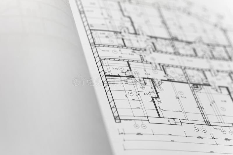 Browse through architectonic portfolio. Architectonic presentation by portfolio. Actual slide is a ground floor royalty free stock image