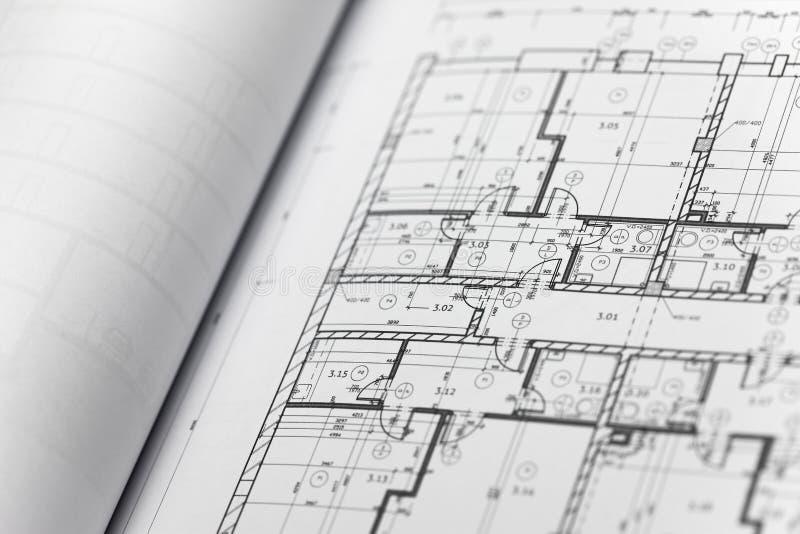 Browse through architectonic portfolio. Architectonic presentation by portfolio. Actual slide is a ground floor stock photos