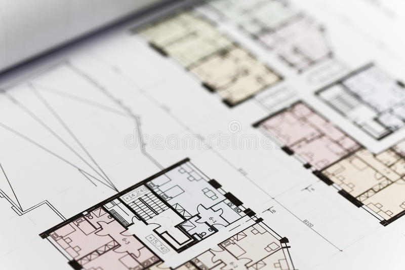 Browse through architectonic portfolio. Architectonic presentation by portfolio. Actual slide are ground floors stock photos