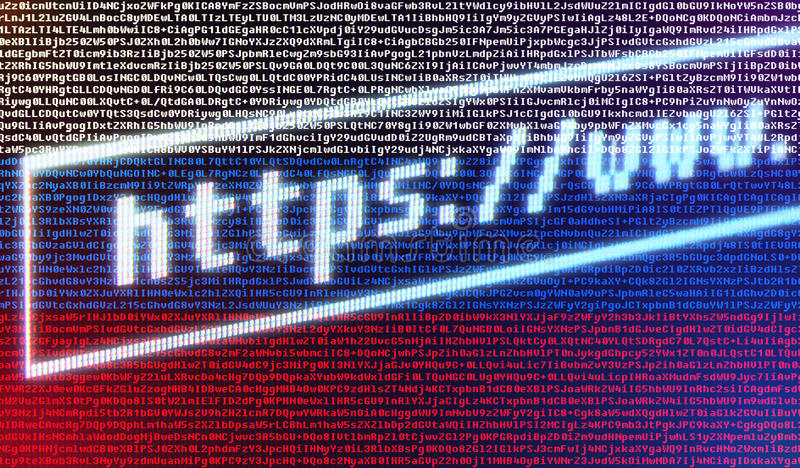 Browser address bar https://www against Russian flag royalty free stock photography