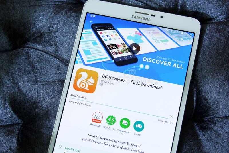 Browser app del UC immagini stock