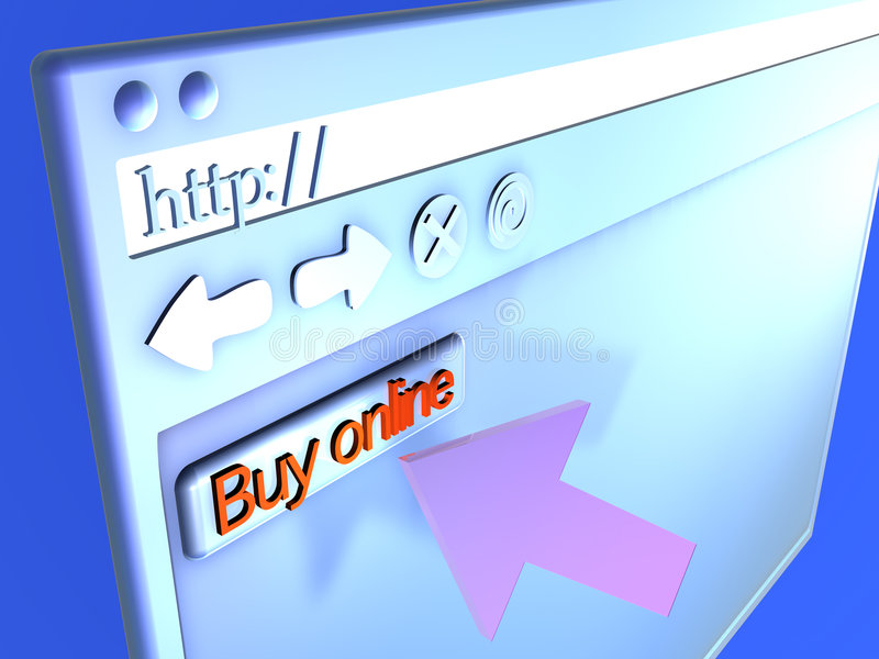 Browser Closeup - Buy online royalty free illustration