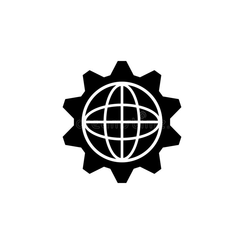 browser, cogwheel icon. Simple glyph  of business set for UI and UX, website or mobile application on white background royalty free illustration