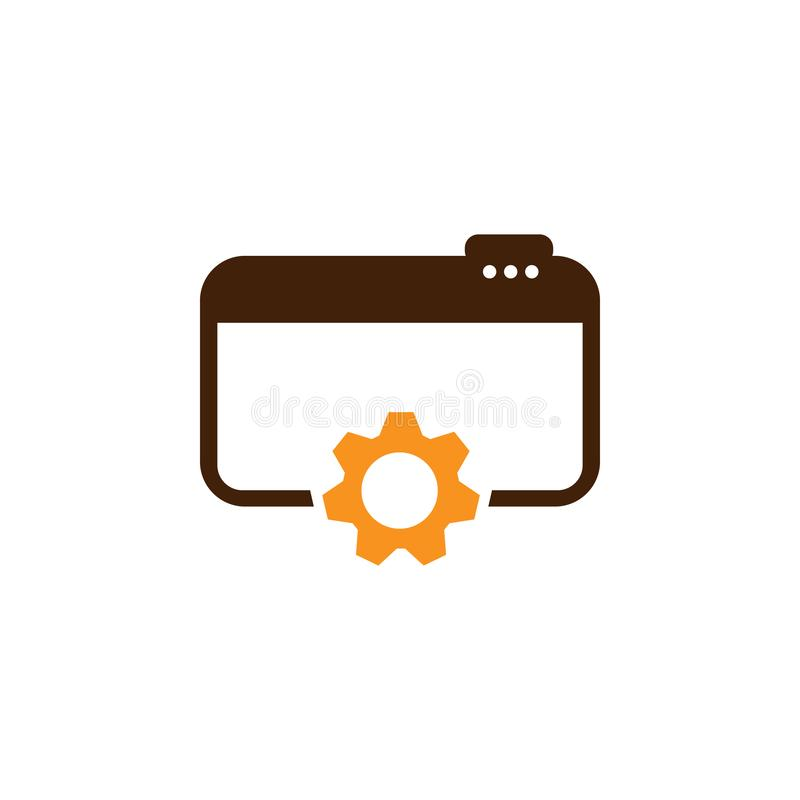 Browser, control icon. Element of Web Optimization icon for mobile concept and web apps. Detailed Browser, control icon can be. Used for web and mobile on white stock illustration
