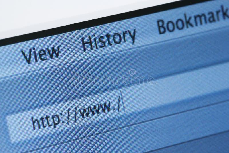 Browser del Internet con l'indirizzo in bianco di Web immagine stock libera da diritti