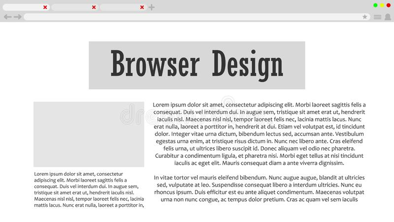 Web stock illustration