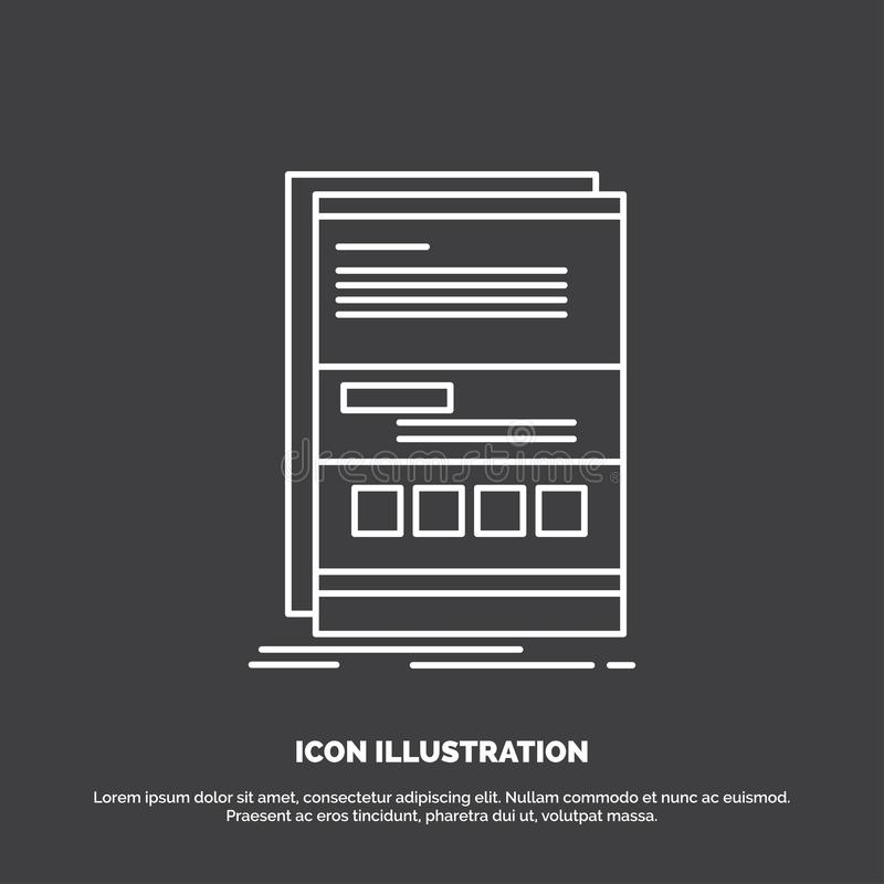 Browser, dynamic, internet, page, responsive Icon. Line vector symbol for UI and UX, website or mobile application stock illustration