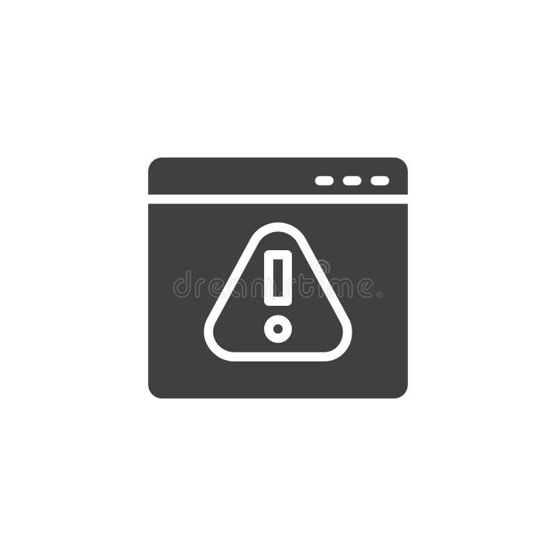 Browser, error vector icon vector illustration