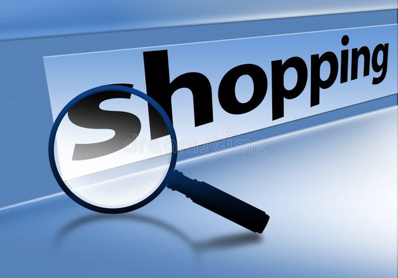 Browser het winkelen vector illustratie