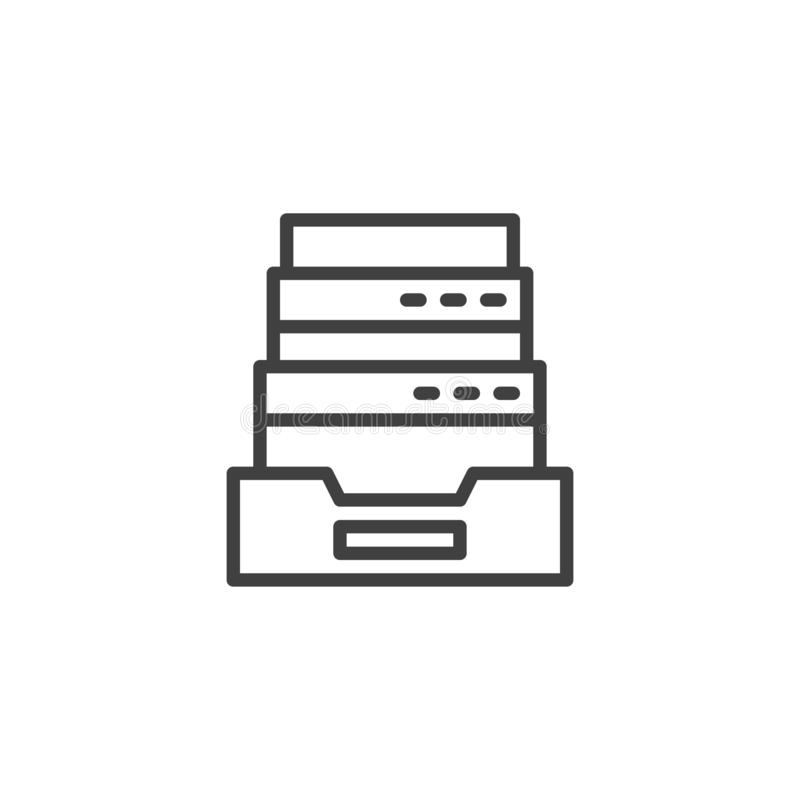Browser history archive line icon stock illustration