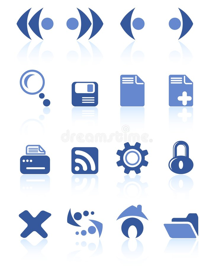 Browser icons stock illustration