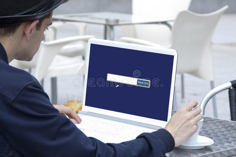 Browser on the laptop royalty free stock images