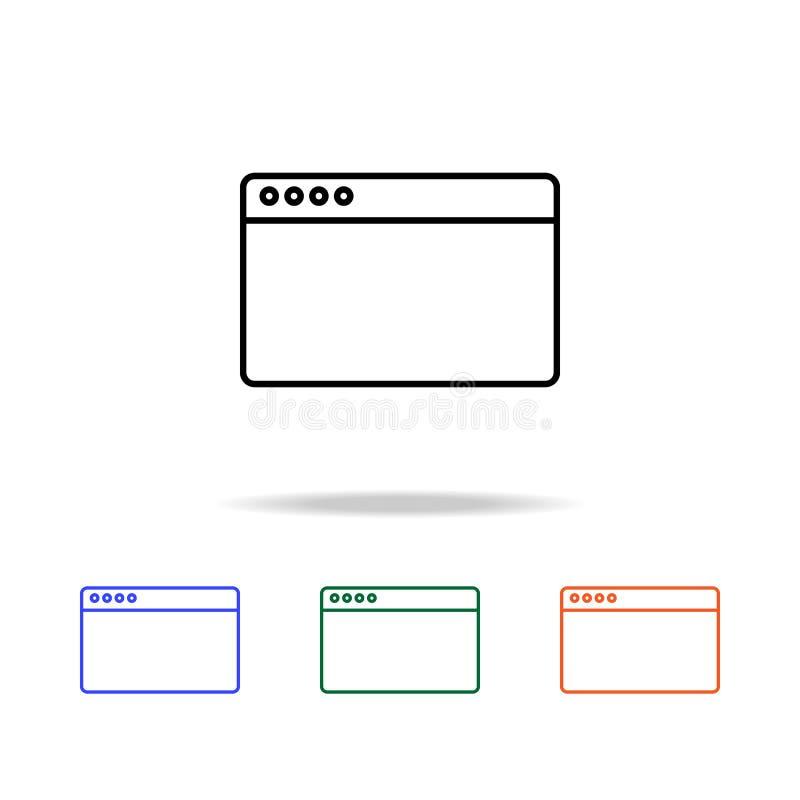 Browser pictogram Elementen van eenvoudig Webpictogram in multikleur Grafisch het ontwerppictogram van de premiekwaliteit Eenvoud royalty-vrije illustratie