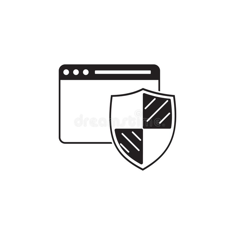 browser protection icon. Elements of cyber security icon. Premium quality graphic design. Signs and symbols collection icon for we stock illustration