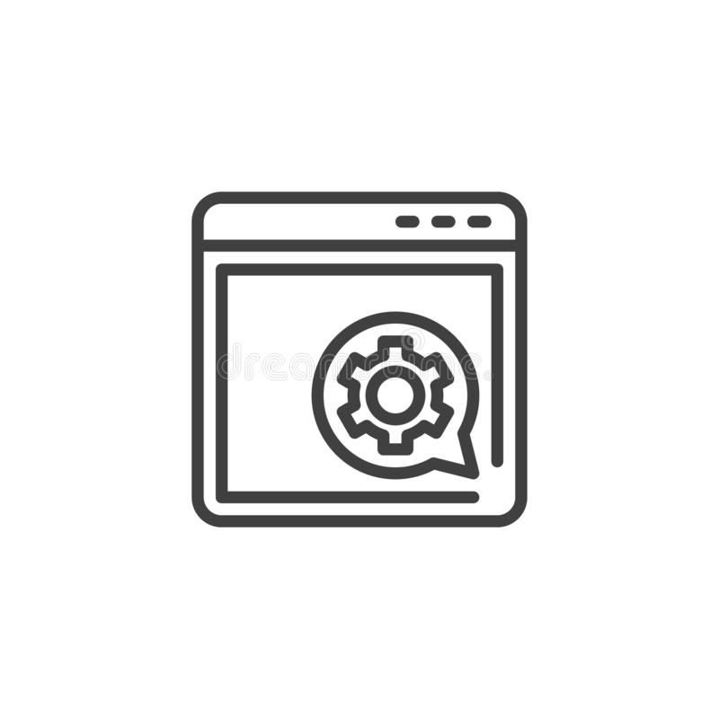 Browser setting line icon royalty free illustration