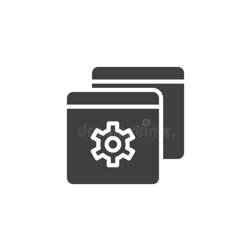 Browser setting vector icon royalty free illustration