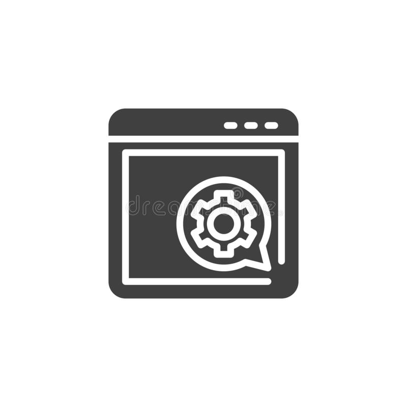 Browser setting vector icon stock illustration
