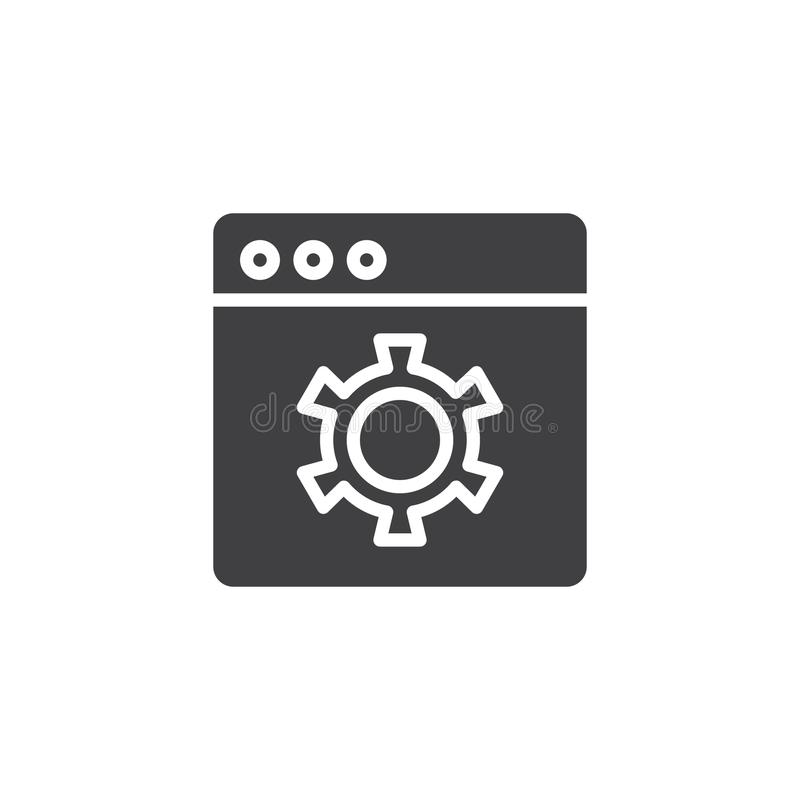 Browser settings vector icon stock illustration