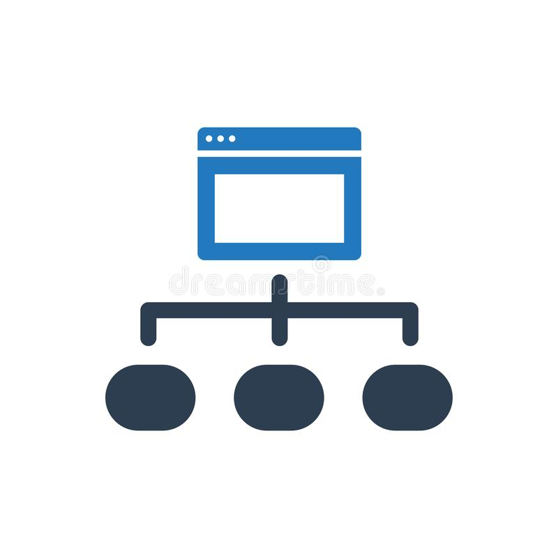 Browser Structure Icon. Simple Illustration Of A Browser Structure Icon stock illustration