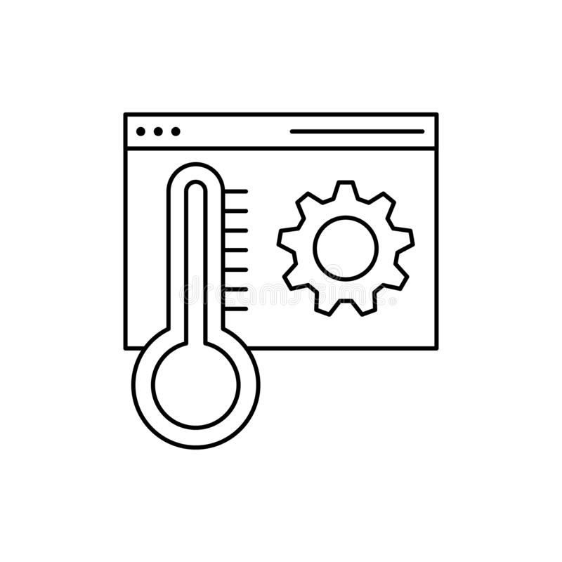 Browser temperature setting icon. Element of Internet in life icon vector illustration