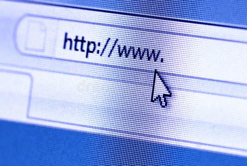 Browser van het Web stock foto