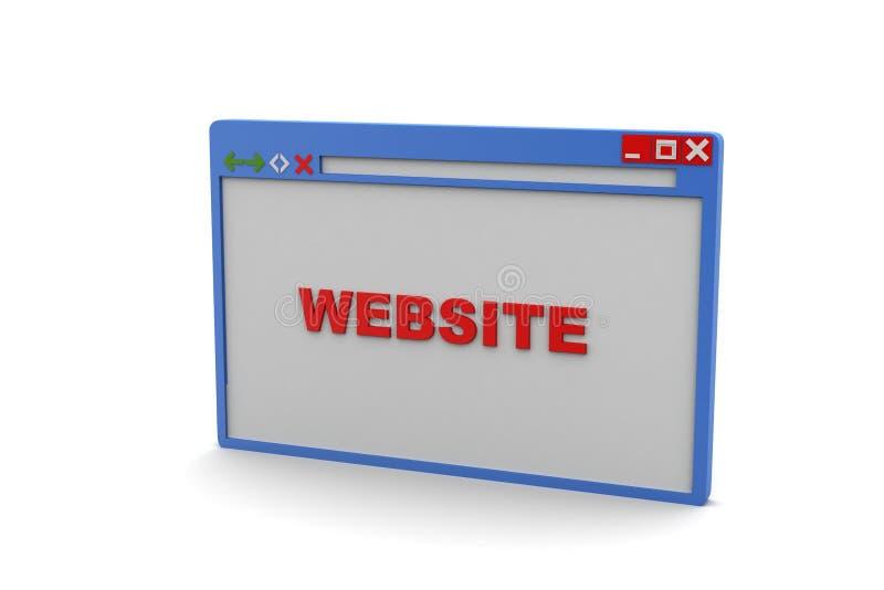 Browser Venster vector illustratie