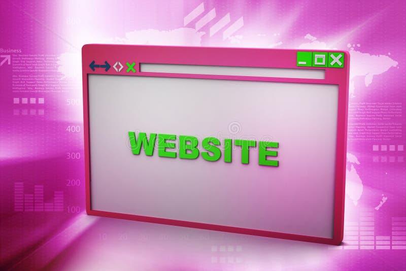 Browser Venster royalty-vrije illustratie