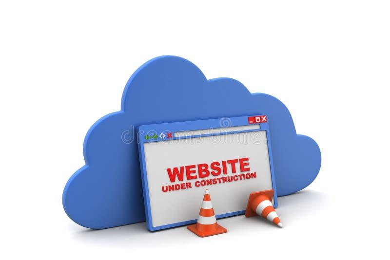 Browser venster met wolk stock illustratie