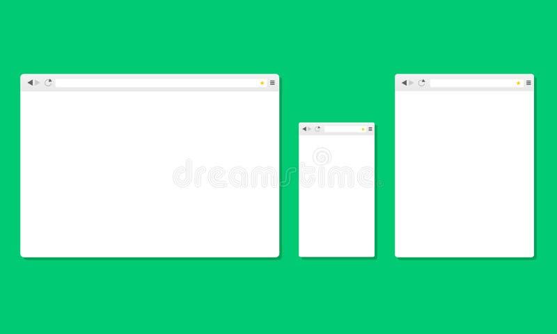 Browser windows royalty free illustration