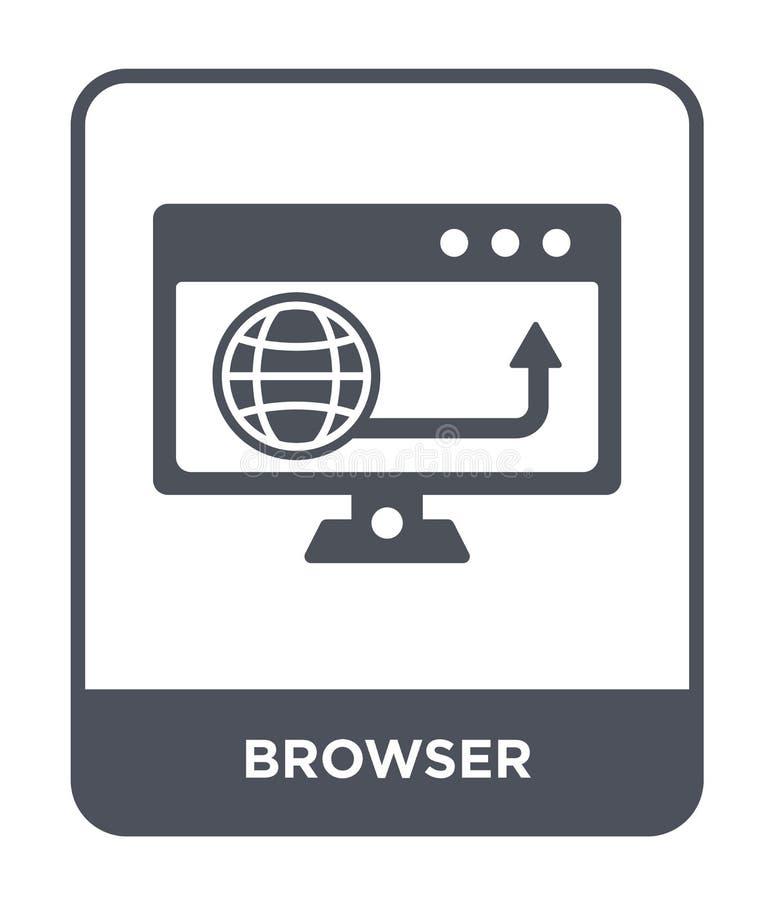 Browserikone in der modischen Entwurfsart Browserikone lokalisiert auf weißem Hintergrund einfaches und modernes flaches Symbol d vektor abbildung