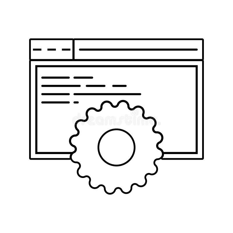 browsersite发展象 网络安全的元素流动概念和网应用程序象的 网站设计的稀薄的线象 皇族释放例证
