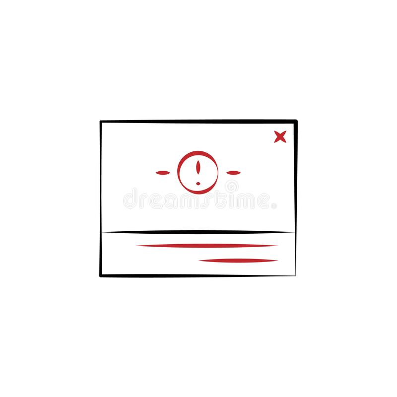 browsert alert message icon. Element of multi color cloud technology icon for mobile concept and web apps. Detailed browsert alert vector illustration
