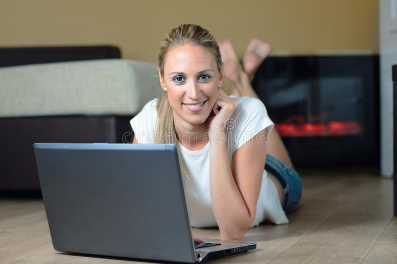 Browsing The Web Royalty Free Stock Photo