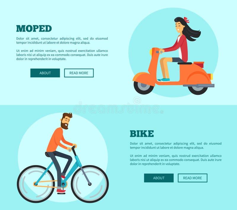 Broyé du noir contre l'illustration de vecteur de comparaison de vélo illustration de vecteur