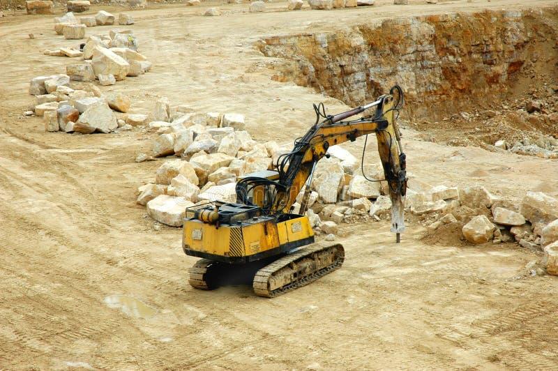 Broyeur de roche photo libre de droits