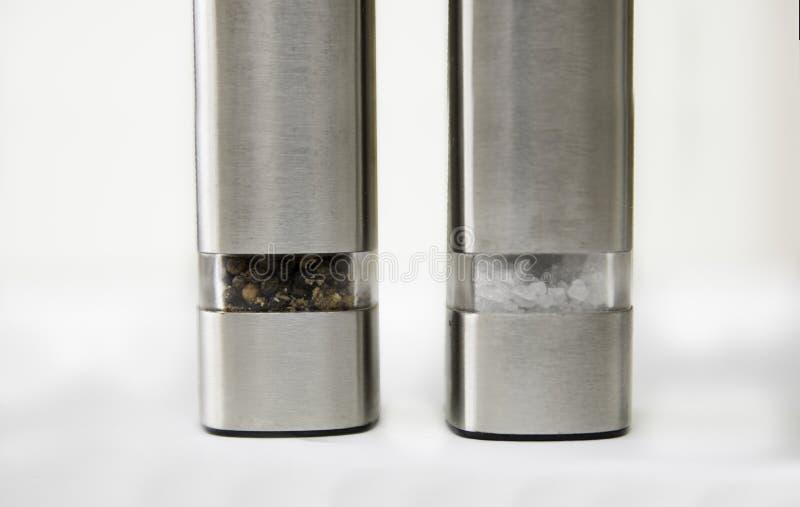 Broyeur de sel et de poivre photo stock