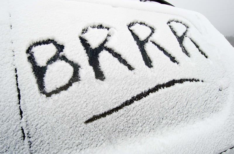 Brrr royalty free stock image