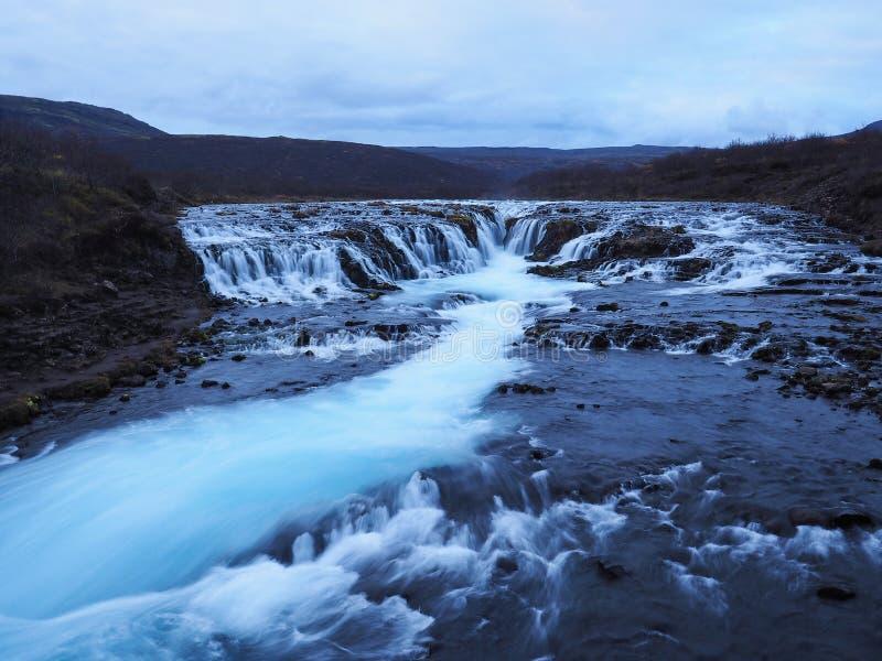 Bruarfoss vattenfall i Island arkivbilder