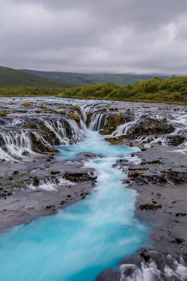Bruarfoss vattenfall, södra Island royaltyfri foto