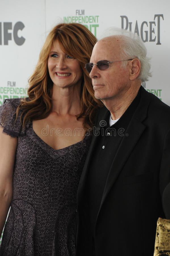 Bruce Dern & Laura Dern stock foto