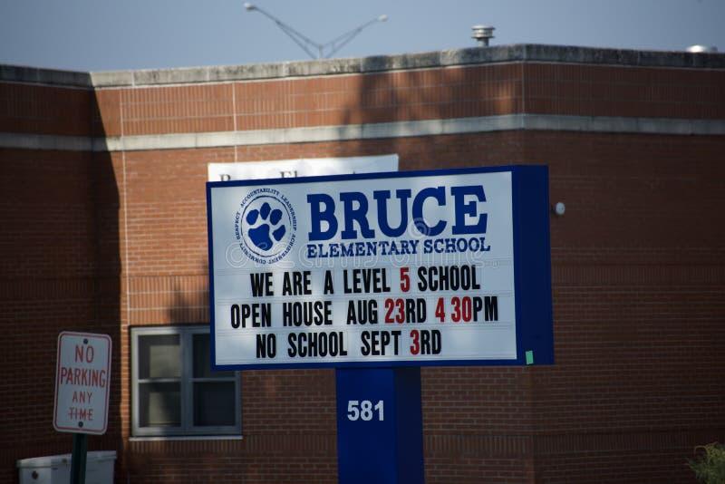 Bruce Elementary, Memphis, Tennessee fotografía de archivo